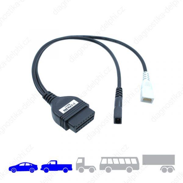Redukce 2+2-pin Audi/VW pro osobní/VAN vozidla