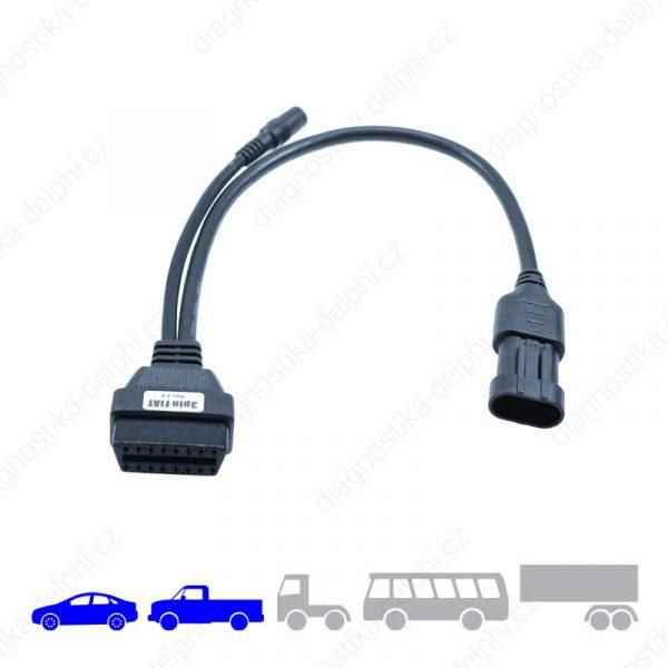Redukce 3-pin pro osobní a lehká užitková vozidla Fiat