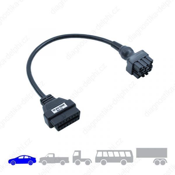 Redukce 10-pin pro osobní vozidla Saab